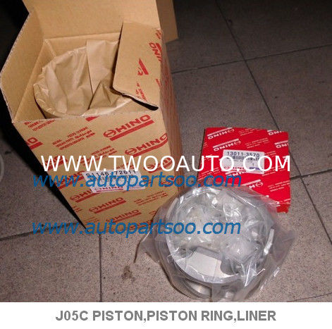 WHOLESALE Hino J05C PISTON RING H07D H07C H06C EH700 Piston Pin For Hino Truck