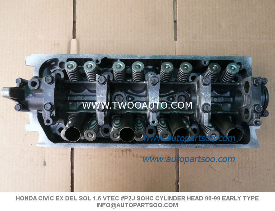 # P2J SOHC CYLINDER HEAD 96-99 EARLY TYPE NO CORE HONDA CIVIC EX DEL SOL 1.6 VTEC
