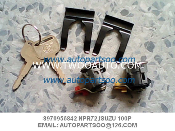 ISUZU Door Locks 8970956852 lock the door right NPR72 ISUZU 100P Barrell and key