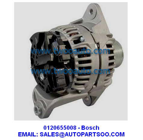 0120655032 - Bosch Alternator 24V 80A (Pulley 8S) 0 120 655 032