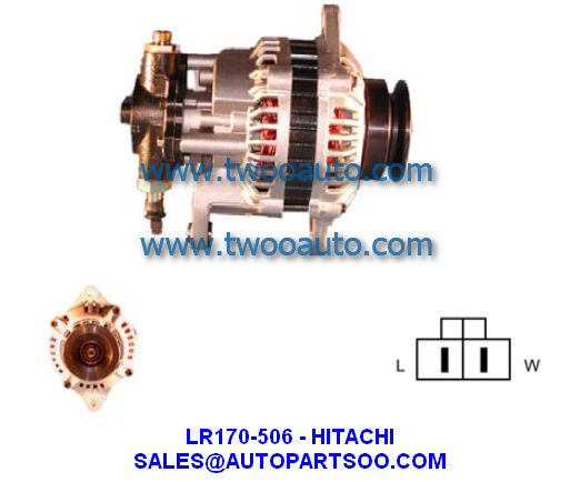 Lr165 711b Lr170 746 Hitachi Alternator 12v 70a Alternadores